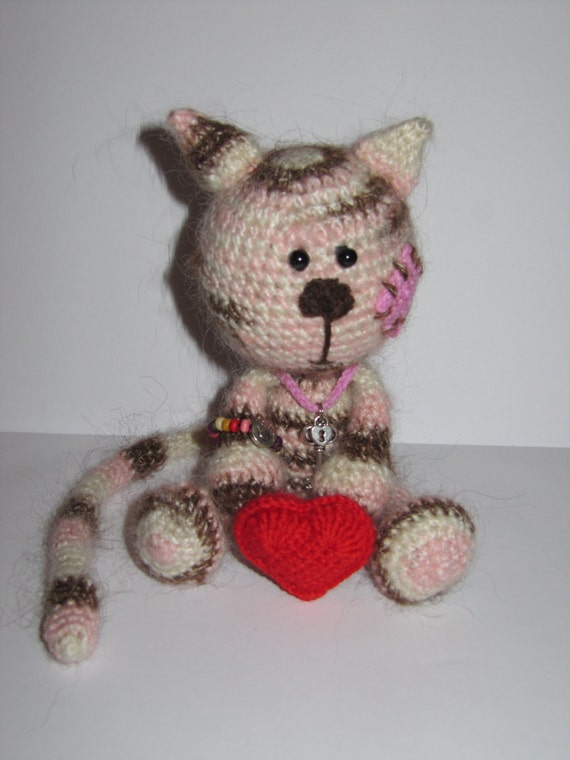 Cat Crochet handmade , Cat OOAK , Cat stuffed animal , cute plush, gift for kids, Cat unique , Ready to ship