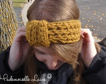 Vintage headband - Mustard yellow