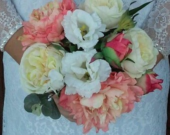 Bridal Bouquet Wedding Bouquet Bride or Bridesmaid Bouquet Silk Flowers