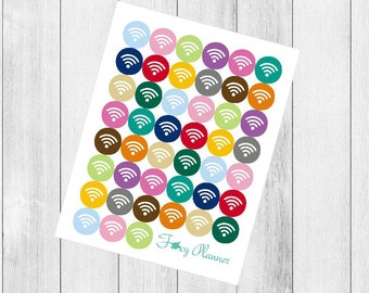 H012 - icon planner stickers - Wifi