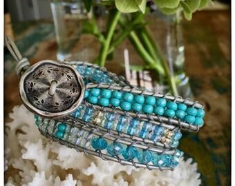 B13 Chan Luu Style Beaded Wrap Bracelet/Triple Wrap Bracelet