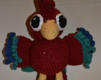 Amigurumi Parrot, Stuffed Bird, Bird, Stuffed Animal, Stuffed Parrot, Toy, Toy Bird, Crocheted Bird, Crocheted Parrot, Kids Toy, Stuffed Toy
