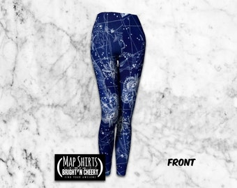 Aries Constellation Map Leggings