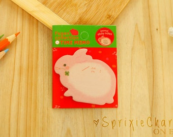 Mini Bunny Rabbit Sticky Notes / Cute Kawaii Animal Sticky Notes / Stationery / Stationary / School Supplies / Bookmark / Small Notes