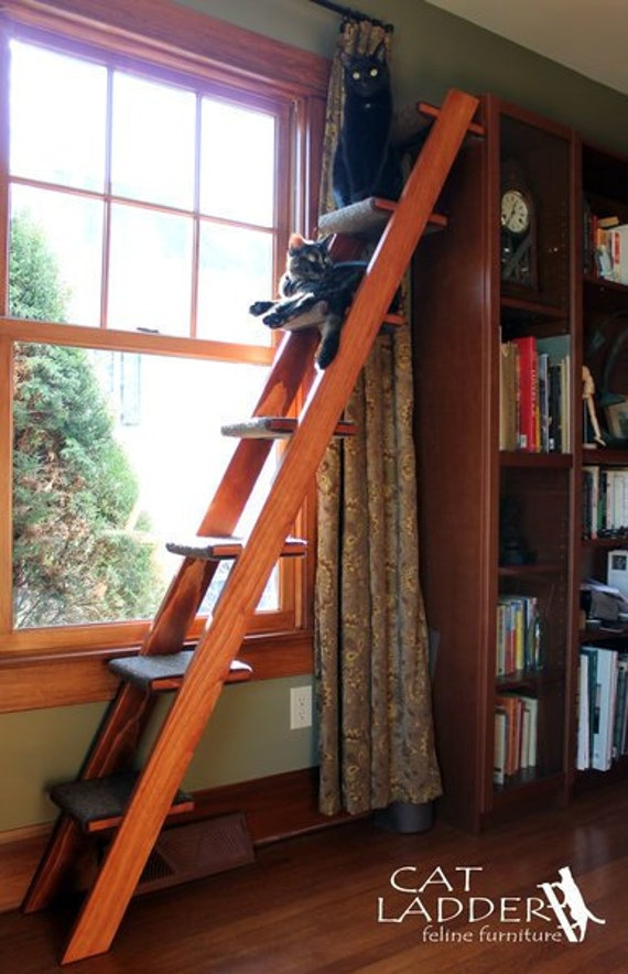 7 step cat ladder for Cat tree steps