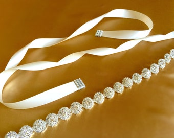 Crystal Bridal Sash | Rhinestone Sash Belt | Wedding Sash Belt