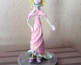 Little princess in her new dress #papier mache