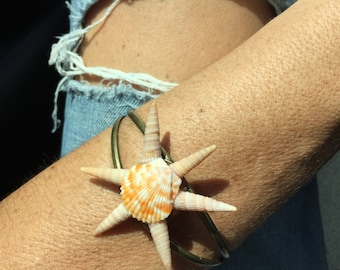 One of a kind seashell bracelet. Mermaid accessories