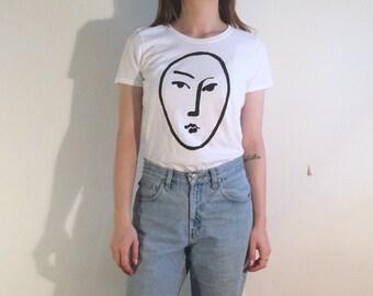 Women's Matisse white visage t-shirt
