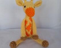 Giraffe Baby Rattle/ Crochet Giraffe/ Stuffed Animals for babies/ Amigurumi Giraffe/ Stuffed Baby Toy/ Baby Shower Gift/ Crochet Animal