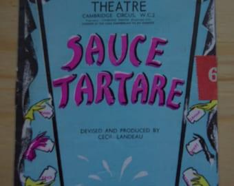 "Early Audrey Hepburn ""Sauce Tartare"" Original Vintage Theater Program 1949"