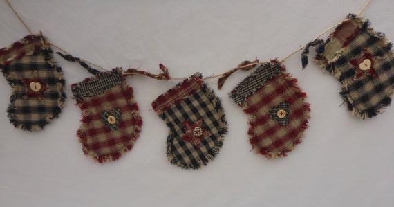 Christmas stocking garland of mini by forgetmenotharts
