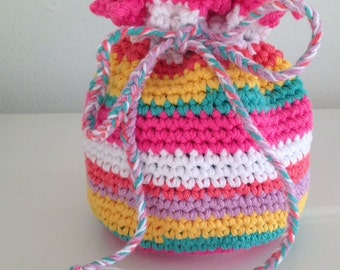 Crochet Colorful bag for secrets !