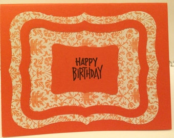 Happy Birthday Card - Orange 1