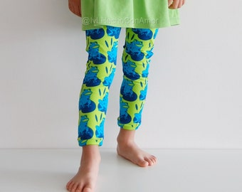 Girl leggings, frog leggings, animal print leggings, baby leggings, toddler leggings, baby boy leggings, baby girl leggings, boy leggings,