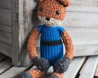 Cute Bear ready for Adventure- crochet amigurumi stuffed animal