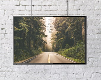 Forest Print, Nature Photography, When Was The Last Time You Did Something For The First Time, Norman Russell