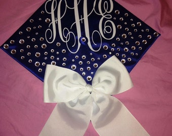 Monogrammed Letters for Graduation Cap cap, bow, and crystals not included)
