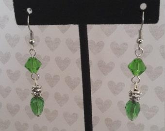 Green & Silver Light Earrings