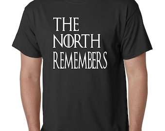 Game of Thrones The North Remembers Men's T-Shirt Size Small Medium Large XL 2XL