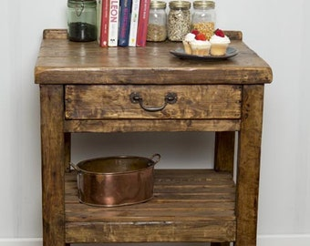 VINNA - Handmade Reclaimed Wood Kitchen Counter. Custom Made To Order.