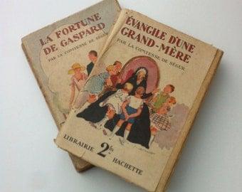 Set of 2 french pocket books from 30s - La Comtesse de Ségur