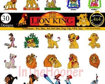 Disney LION KING EMBROIDERY Designs Pes, Hus, Jef, Dst, Exp, Jef+, Vip, Vp3, Xxx