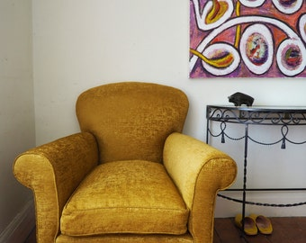 Edwardian Armchair Traditionally Re-Upholstered