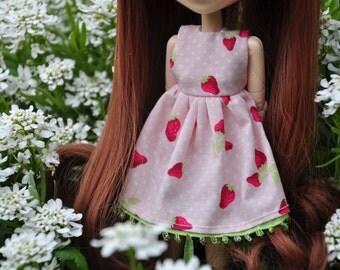 Dress with Strawberry for Pullip Obitsu 27 cm, etc.