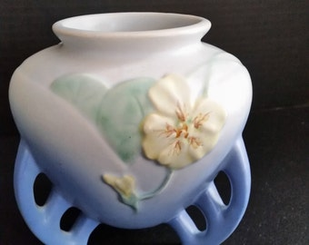 """Pottery by Weller Blue """"Panella"""" Vase 1930's"""