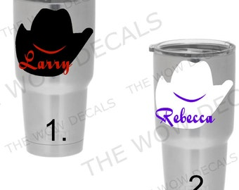 Cowboys Yeti Cup Etsy - Custom vinyl stickers for cups