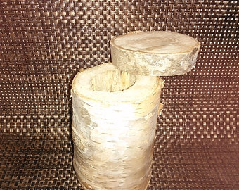 Home Decor Storage Container Made of Birch Wood