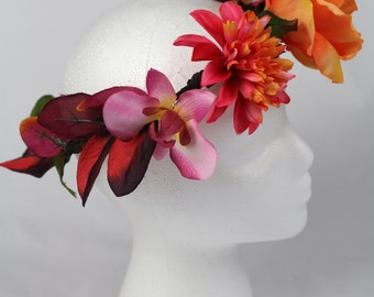 Tropical wild fire floral crown