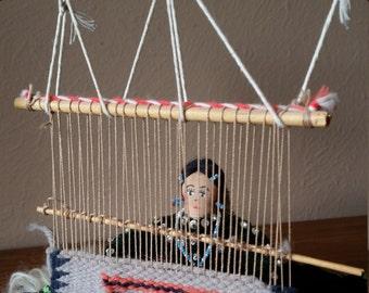 Vintage Navajo Weaver at Loom
