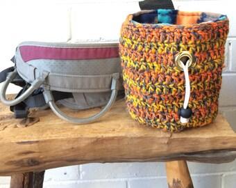 Tiger Striped Crochet Chalk Bag