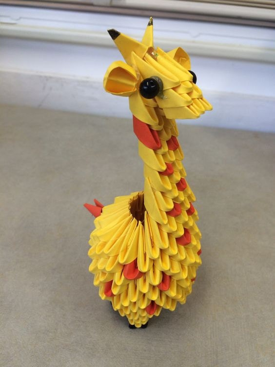 3D Origami Giraffe - photo#28