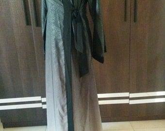 Shaded Delphine Wrap Abaya
