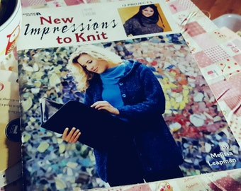 2002 Leisure Arts New Impressions to Knit Sweaters Knitting Pattern Book