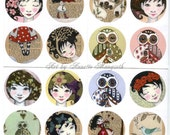 Sticker set - 16 round stickers from Carambatack Design