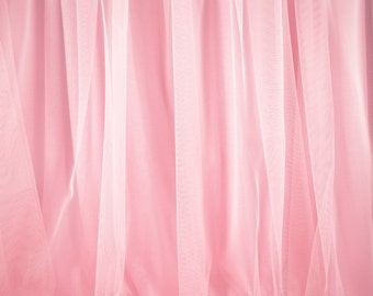 """Solid Pink Tulle - ultra-fine tulle with soft feel and drape - 58"""" wide - sold by the yard"""