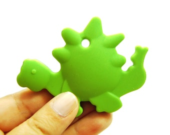 Silicone Baby Teether. dinosaur baby boy teether. green dinosaur teether. silicone teething toy. baby teether toy, baby teething toy #296010