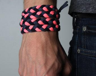 Neon Bracelet, Neon Pink Bracelet, Neon, Cuff Bracelet, Woven Bracelet, Braided Bracelet, Mens Neon Bracelet, Hippie Bracelet, Boho Bracelet