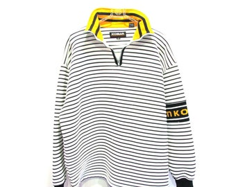 KOMAN Modern Classics 80s 90s Stripe Puffy Long Sleeve Sweatshirt XL