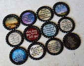 Lord of the Rings Magnets- Lord of the Rings Movie Quotes- Inspirational Bottlecap Magnets- The Fellowship- Two Towers- Return of the King