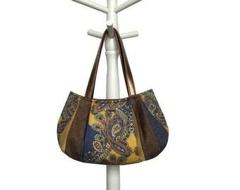 "Mustrad Hobo, Vintage Fabric Bag, Vinatge Fabric Hobo, Hobo Bag, Hobo Purse, Colorful Purse, Paisley Bag  ""SPICED BOURBON CIDER"" jennjohn"