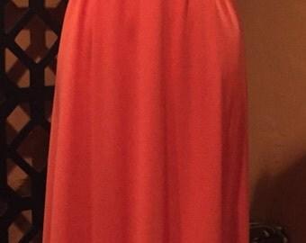 Orange Vintage Maxi Dress