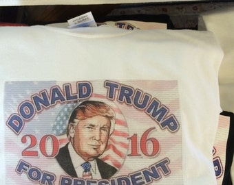 Reduced for clearance - Trump, t-shirt, limited edition, White, adult sizes