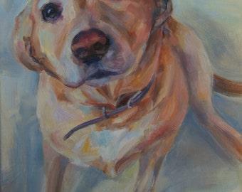 Custom Pet Portrait, Dog Portrait, Pet Painting Dog painting, cat painting, horse painting, animal, original oil , Father's Day