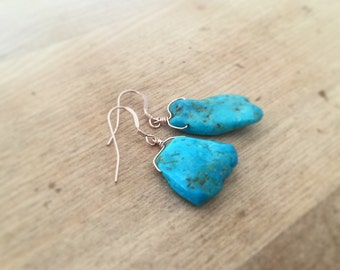 Nacozari Turquoise Rose Gold Earrings