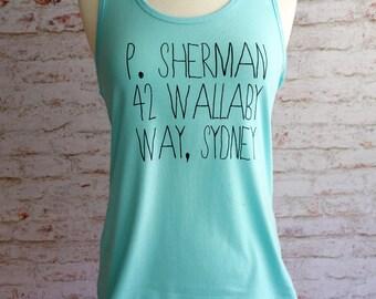 P. Sherman, Finding Nemo tank top, finding nemo shirt, disney pixar shirt, Finding nemo, P. Sherman
